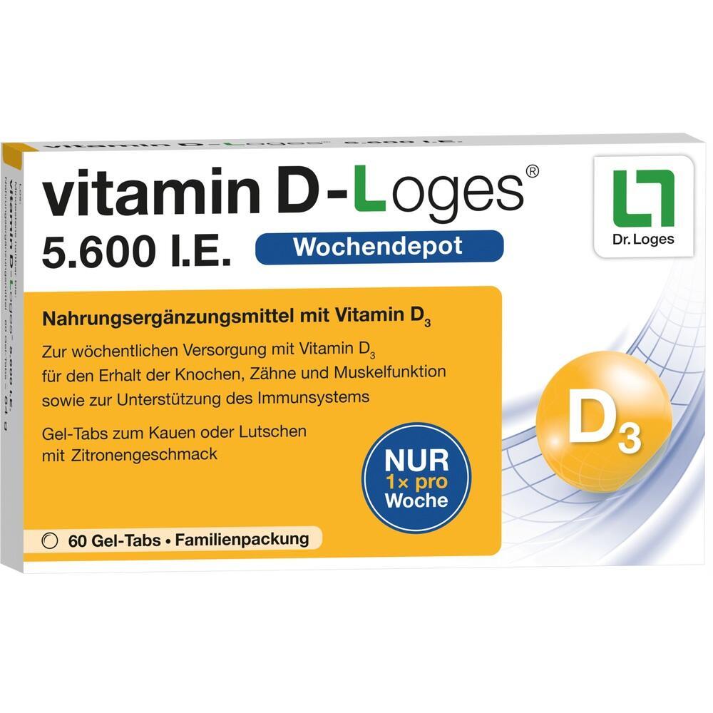 11640978, vitamin D-Loges 5.600 I.E. Familienpackung, 60 ST
