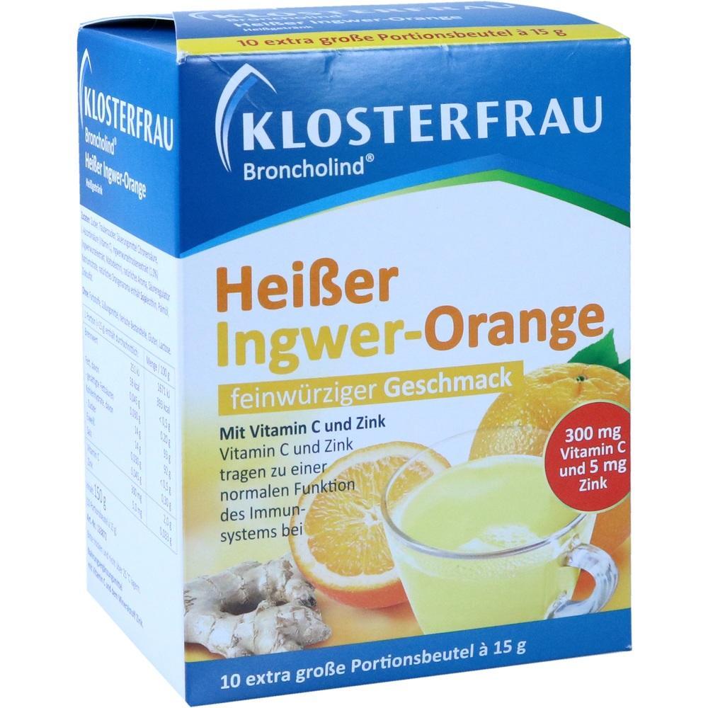 11666015, Klosterfrau Broncholind Heißer Ingwer-Orange, 10X15 G