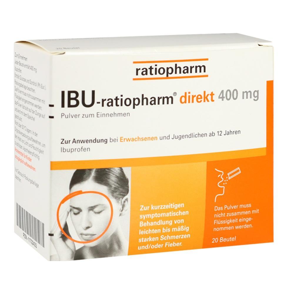 11722423, IBU-ratiopharm direkt 400 mg Pulver zum Einnehmen, 20 ST