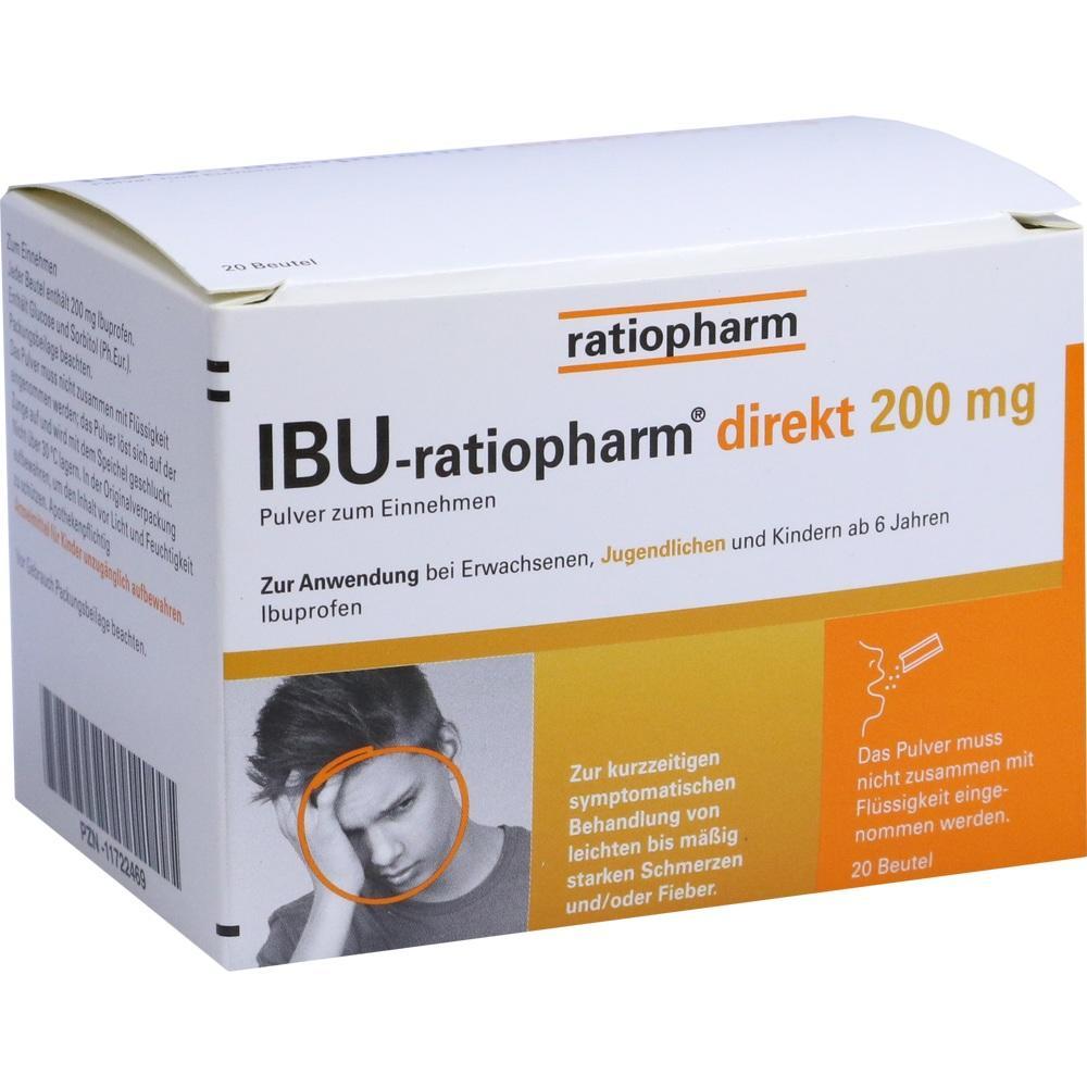 11722469, IBU-ratiopharm direkt 200 mg Pulver zum Einnehmen, 20 ST