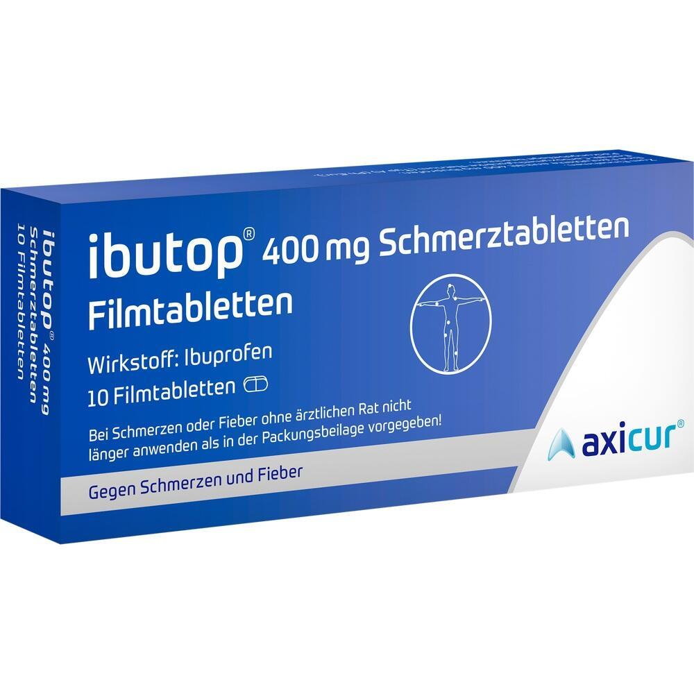 11886113, IBUTOP 400mg Schmerztabletten Filmtabletten, 10 ST