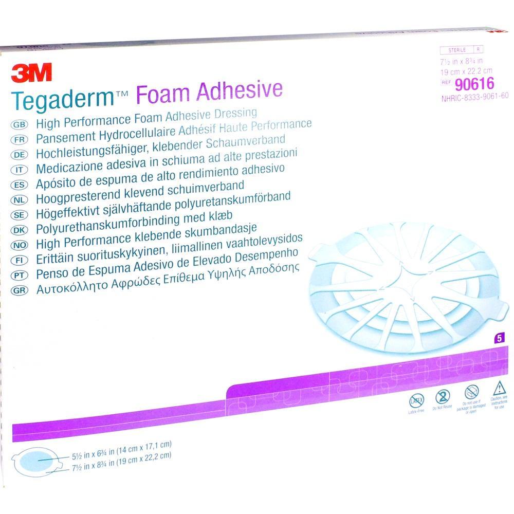 12143271, TEGADERM Foam Adhesive 19x22.2 cm oval 90616, 5 ST