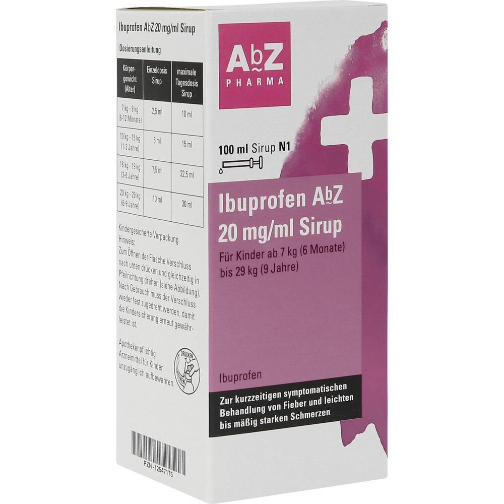 12547175, Ibuprofen AbZ 20 mg/ml Sirup, 100 ML