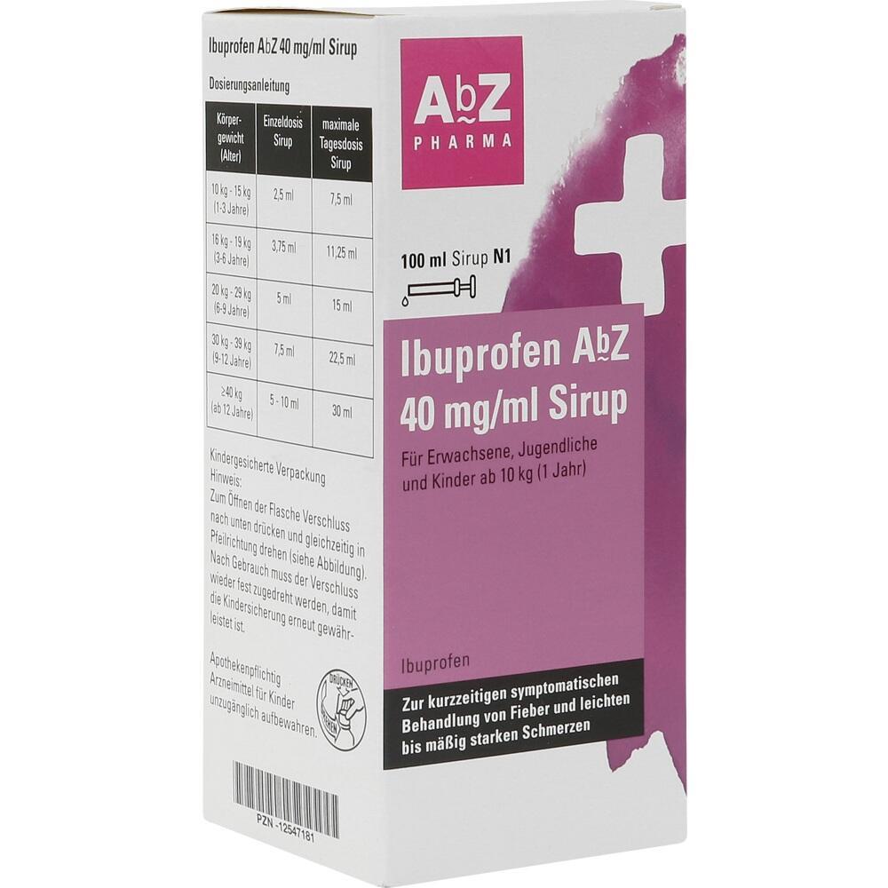 12547181, Ibuprofen AbZ 40 mg/ml Sirup, 100 ML