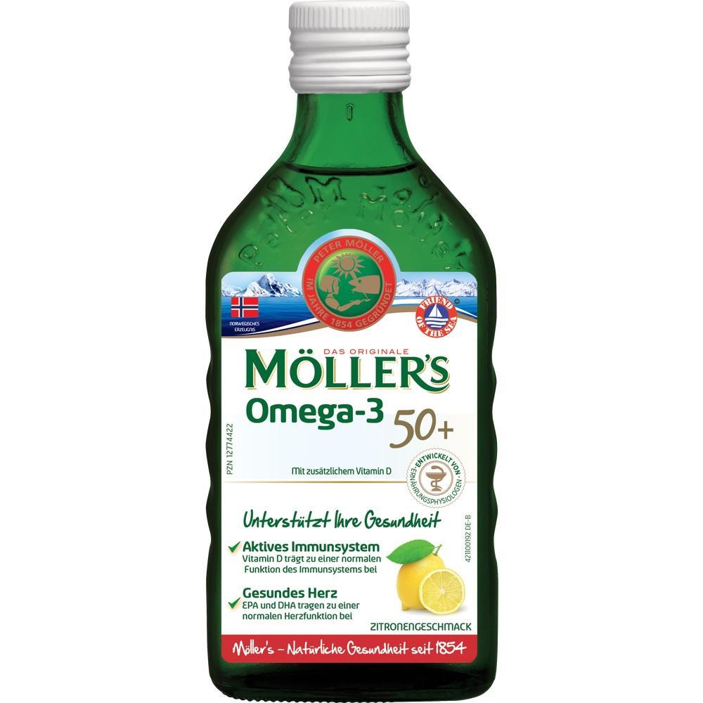 Möller's Omega-3 Für 50plus Zitronengeschmack Öl