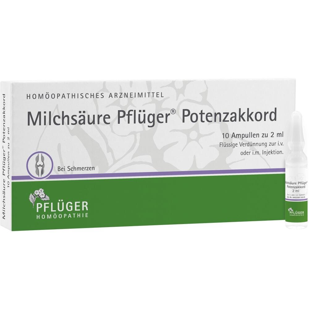 12777225, Milchsäure Pflüger Potenzakkord, 10 ST