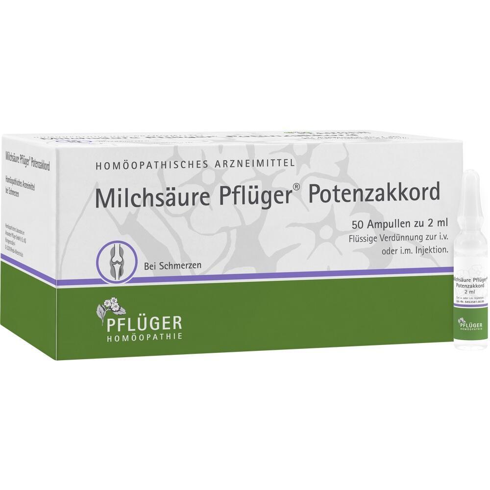 12777231, Milchsäure Pflüger Potenzakkord, 50 ST