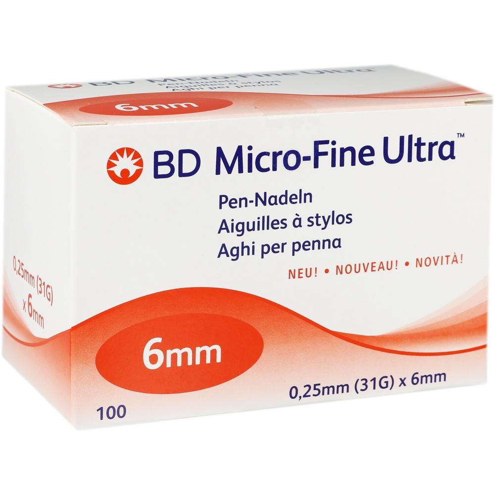 BD MICRO-FINE ULTRA Pen-Nadeln 0,25x6 mm