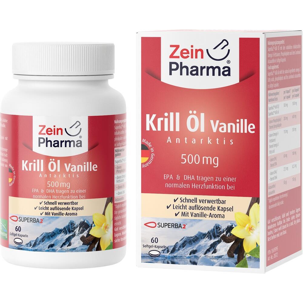 13695995, Krill Öl - Antarktis 500 mg Vanille, 60 ST