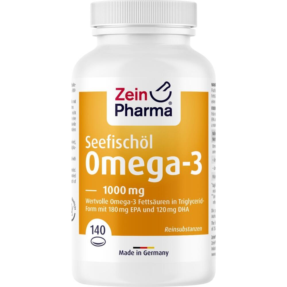 13721801, Omega 3 1000 mg - Seefischöl Softgelkapseln Hochdo, 140 ST