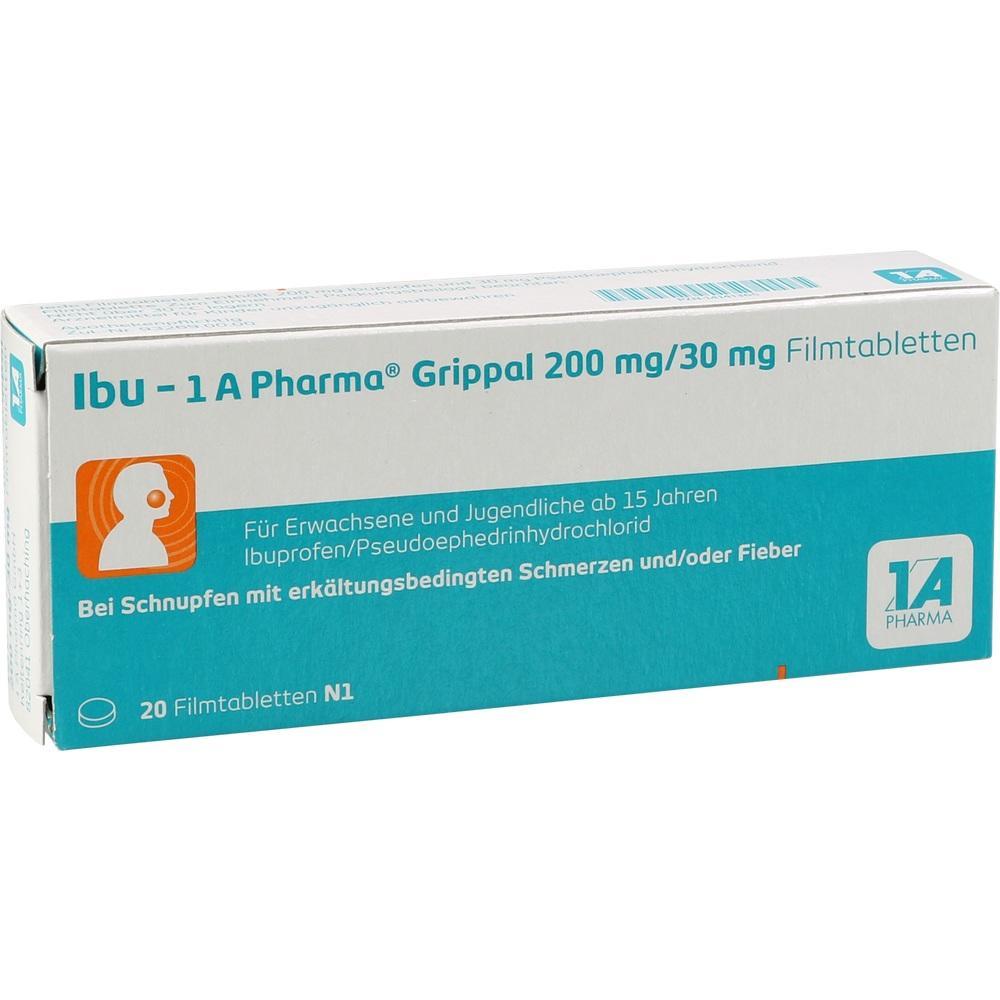 14141365, Ibu - 1 A Pharma Grippal 200 mg/30 mg Filmtabl., 20 ST