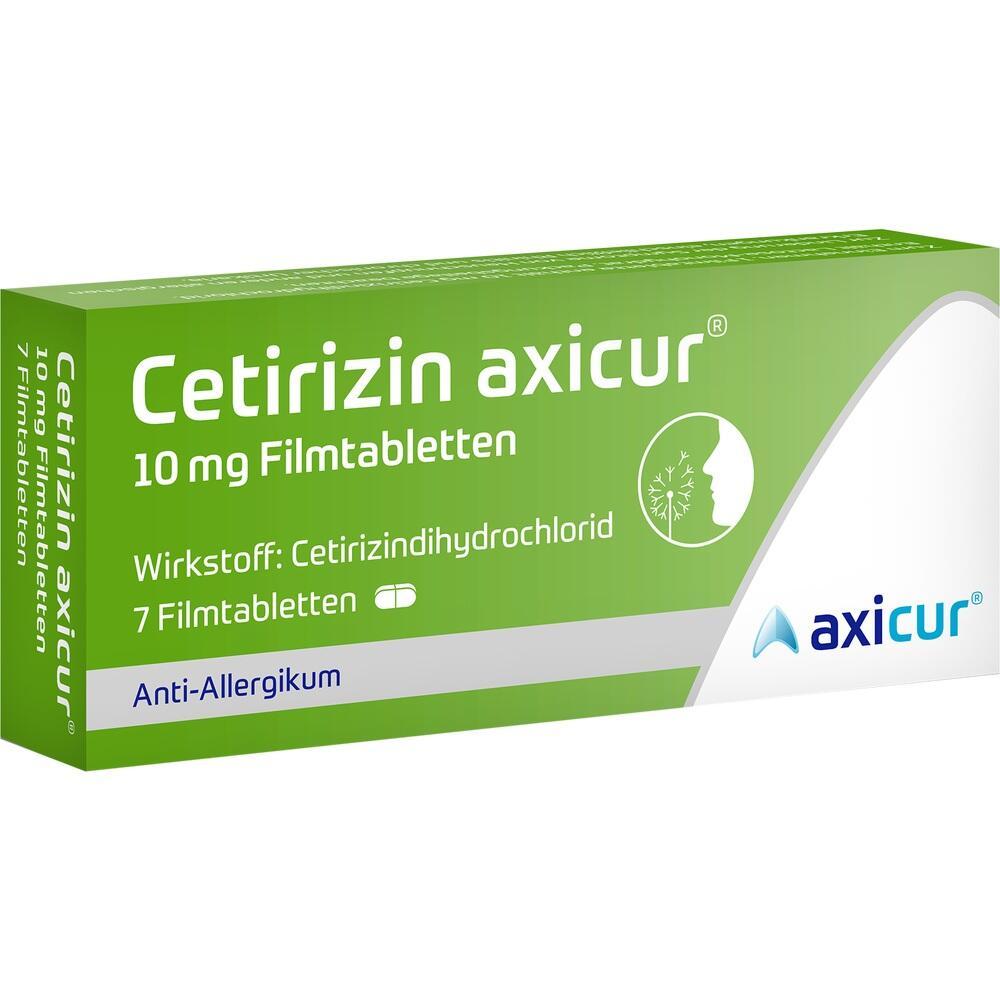 14293483, Cetirizin axicur 10 mg Filmtabletten, 7 ST