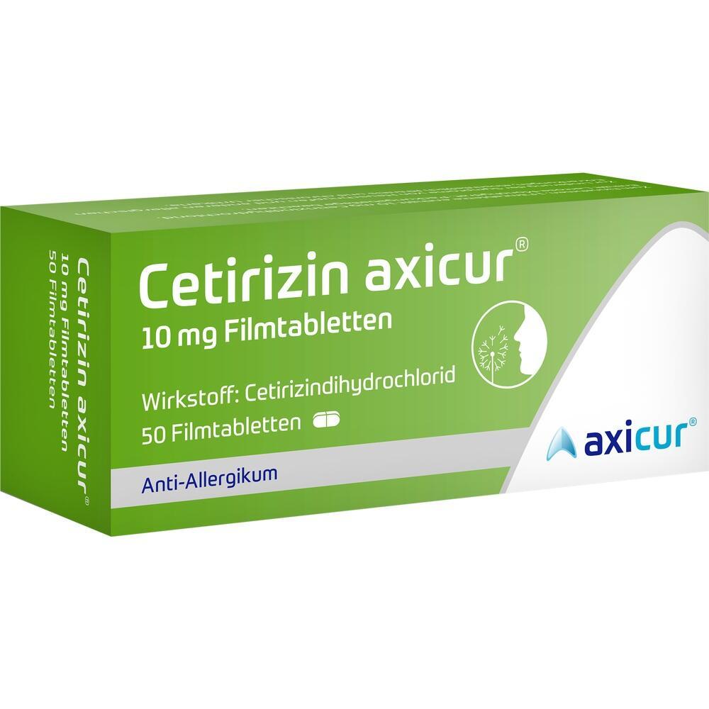 14293514, Cetirizin axicur 10 mg Filmtabletten, 50 ST