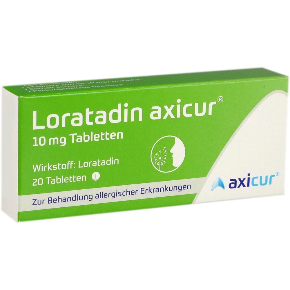 14293767, Loratadin axicur 10 mg Tabletten, 20 ST