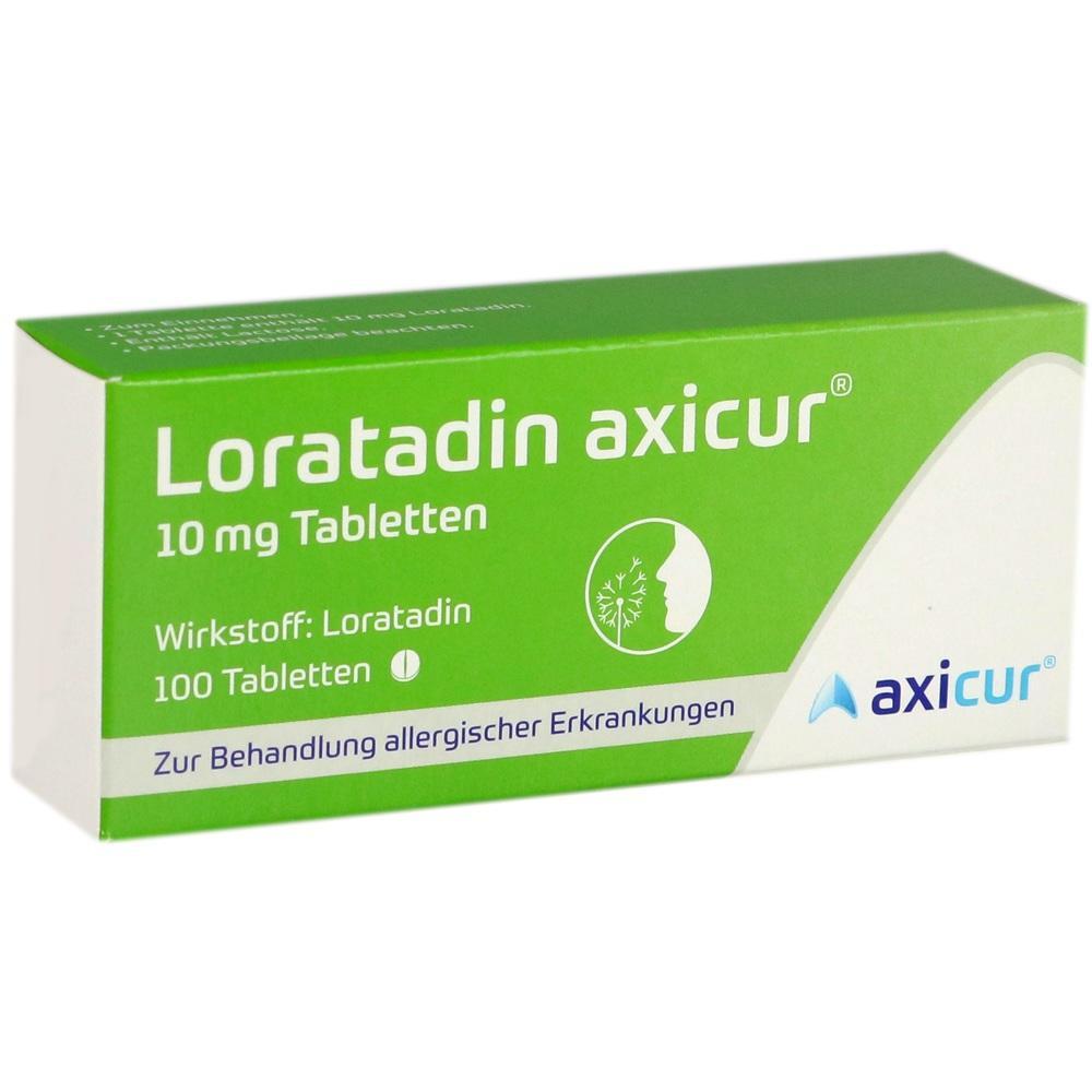 14293796, Loratadin axicur 10 mg Tabletten, 100 ST