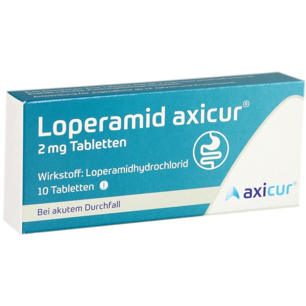14299913, Loperamid axicur 2 mg Tabletten, 10 ST