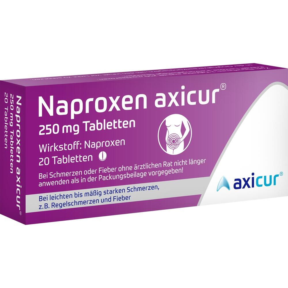 14412120, Naproxen axicur 250 mg Tabletten, 20 ST