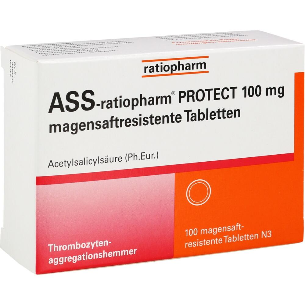 15577596, ASS -ratiopharm PROTECT 100 mg magensaftres. Tabl., 100 ST