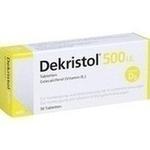 Verpackungsbild(Packshot) von DEKRISTOL 500 I.E. Tabletten