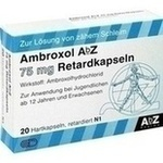 Verpackungsbild(Packshot) von AMBROXOL AbZ 75 mg Retardkapseln