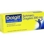 Verpackungsbild(Packshot) von DOLGIT Schmerzdragees