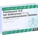 Verpackungsbild(Packshot) von PANTOPRAZOL AbZ bei Sodbrennen 20 mg msr.Tabl.