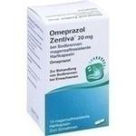 Verpackungsbild(Packshot) von OMEPRAZOL Zentiva 20 mg bei Sodbrennen