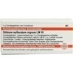 LM STIBIUM sulfuratum nigrum VI Globuli