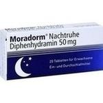 Verpackungsbild(Packshot) von MORADORM Nachtruhe Diphenhydramin 50 mg Tabletten