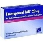 Verpackungsbild(Packshot) von ESOMEPRAZOL TAD 20 mg bei Sodbrennen msr.Hartkaps.