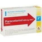 Verpackungsbild(Packshot) von PARACETAMOL 500 mg elac Tabletten