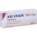 Verpackungsbild(Packshot) von ASS STADA 500 mg Tabletten