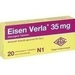 Verpackungsbild(Packshot) von EISEN VERLA 35 mg überzogene Tabletten