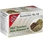 Verpackungsbild(Packshot) von H&S Fenchel-Anis-Kümmel N Filterbeutel
