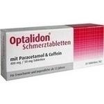 Verpackungsbild(Packshot) von OPTALIDON Schmerztabl.m.Paracetamol u.Coffein