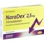 Verpackungsbild(Packshot) von NARADEX 2,5 mg Filmtabletten