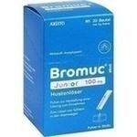 Verpackungsbild(Packshot) von BROMUC akut Junior 100 mg Hustenlöser P.H.e.L.z.E.