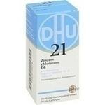 Verpackungsbild(Packshot) von BIOCHEMIE DHU 21 Zincum chloratum D 6 Tabletten
