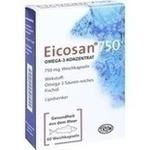 Verpackungsbild(Packshot) von EICOSAN 750 Omega-3 Konzentrat Weichkapseln