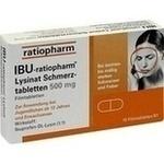 Verpackungsbild(Packshot) von IBU-RATIOPHARM Lysinat Schmerztabl.500 mg