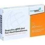 Verpackungsbild(Packshot) von IBUPROFEN 400 mg akut Fair-Med Healthcare Filmtab.