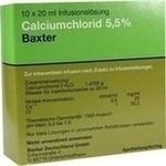 Verpackungsbild(Packshot) von CALCIUMCHLORID Lösung 5,5% Ampullen