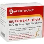 Verpackungsbild(Packshot) von IBUPROFEN AL direkt 400 mg Pulver zum Einnehmen