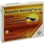 Verpackungsbild(Packshot) von REISEFIT Hennig 50 mg Tabletten