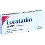 Verpackungsbild(Packshot) von LORATADIN STADA 10 mg Tabletten