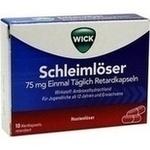 Verpackungsbild(Packshot) von WICK Schleimlöser 75 mg einmal täglich Retardkaps.