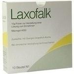 Verpackungsbild(Packshot) von LAXOFALK 10 g Plv.z.Herst.e.Lsg.z.Einnehmen Beutel