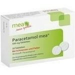 Verpackungsbild(Packshot) von PARACETAMOL mea 500 mg Tabletten