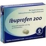 Verpackungsbild(Packshot) von IBUPROFEN Sophien 200 Filmtabletten