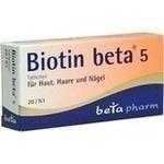 Verpackungsbild(Packshot) von BIOTIN BETA 5 Tabletten